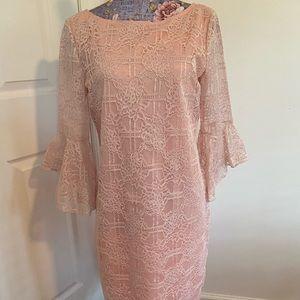 Marina pink lace dress 10 NWT
